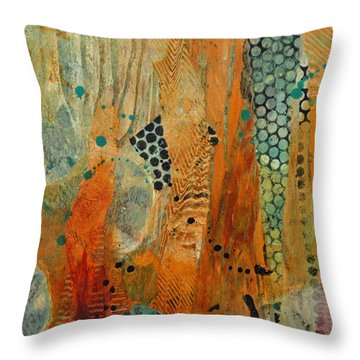 Throw Pillow featuring the painting Courtship 1 by Kate Word