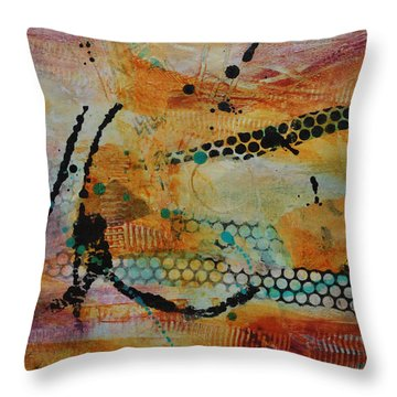 Throw Pillow featuring the painting Courtship 3 by Kate Word