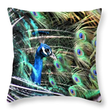 Throw Pillow featuring the photograph Courtship Dance by Howard Bagley