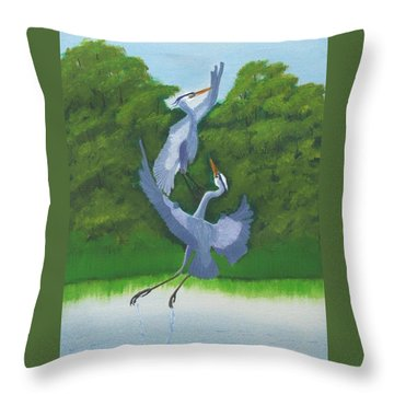 Courtship Dance Throw Pillow