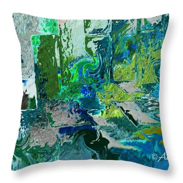 Courtyard Throw Pillow by Alika Kumar