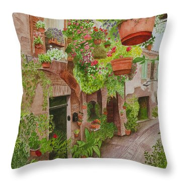 Hanging Basket Throw Pillows