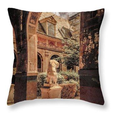 Paris, France - Courtyard East - L'ecole Des Beaux-arts Throw Pillow