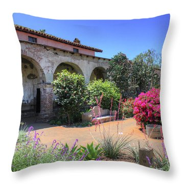 Courtyard Garden Throw Pillow