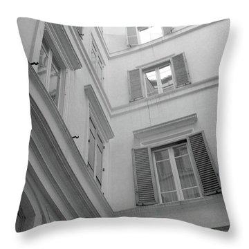 Courtyard In Rome Throw Pillow