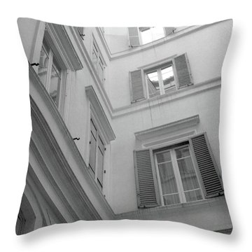 Courtyard In Rome Throw Pillow