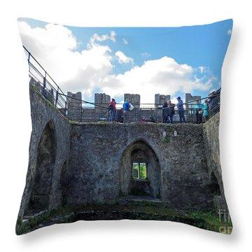 Courtyard Of Blarney Castle Throw Pillow