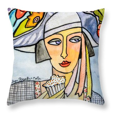 Couture Chapeau Throw Pillow