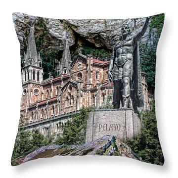 Covadonga Throw Pillow by Angel Jesus De la Fuente