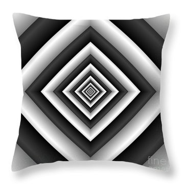 Covariance  6 Modern Geometric Black White Throw Pillow