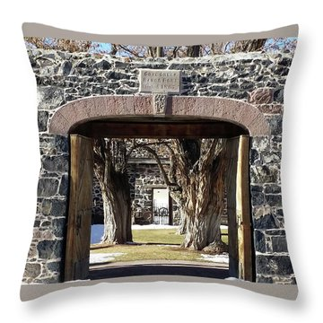Throw Pillow featuring the photograph Cove Fort, Utah by Cynthia Powell