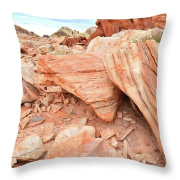 Throw Pillow featuring the photograph Cove Of Sandstone Shapes In Valley Of Fire by Ray Mathis