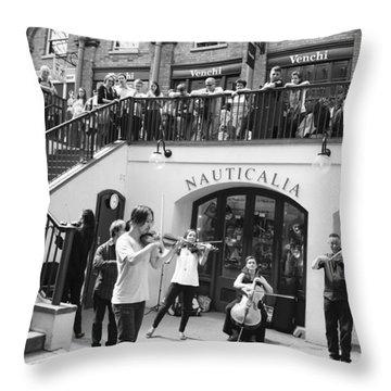 Covent Garden Music Throw Pillow