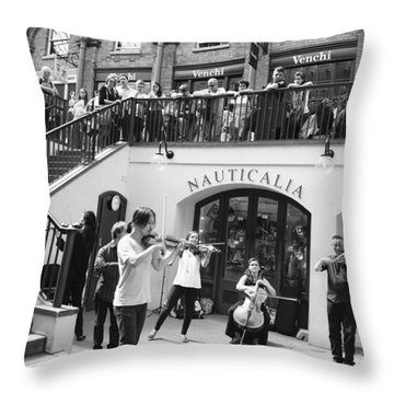 Covent Garden Music Throw Pillow