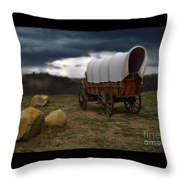 Covered Wagon 2 Throw Pillow