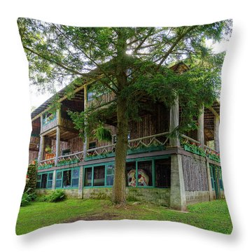 Throw Pillow featuring the photograph Covewood Lodge On Big Moose Lake by David Patterson