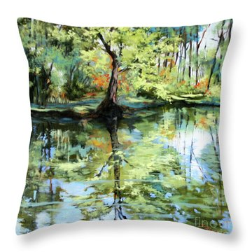 Covington Pond Throw Pillow
