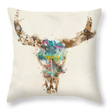 Cow Skull Throw Pillows