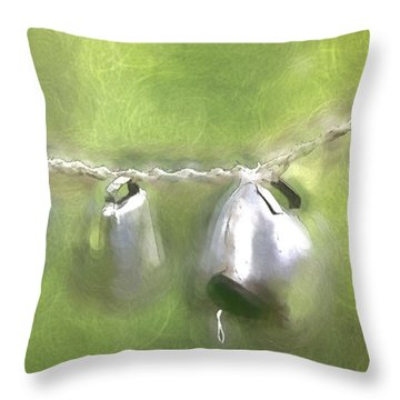 Cowbells Dancing Throw Pillow