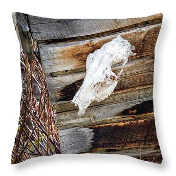 Cowboy Cabin Adornment Throw Pillow