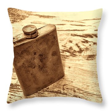 Cowboy Energy Drink Throw Pillow by American West Legend By Olivier Le Queinec