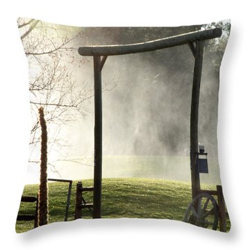 Throw Pillow featuring the photograph Cowboy Fence by Beauty For God
