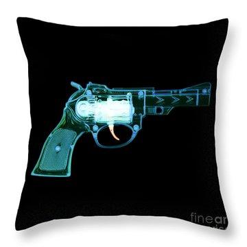 Cowboy Gun 001 Throw Pillow