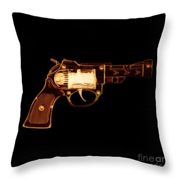 Cowboy Gun 002 Throw Pillow