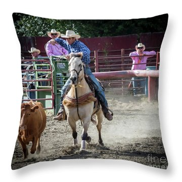 Cowboy In Action#2 Throw Pillow