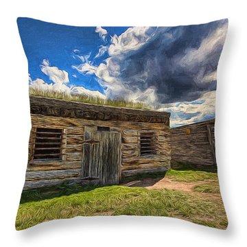 Cowboy Jail Throw Pillow