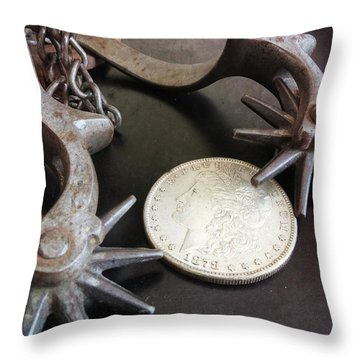Cowboy Money Throw Pillow