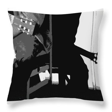 Cowboy Poetry Throw Pillow