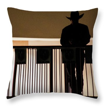 Cowboy Profile Throw Pillow