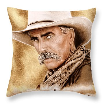 Cowboy Sepia Edit Throw Pillow