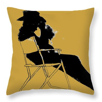 Cowboy Silhouette Throw Pillow