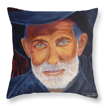 Cowboy Tex Throw Pillow