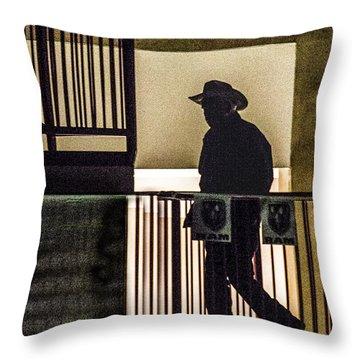 Cowboy Walking Throw Pillow