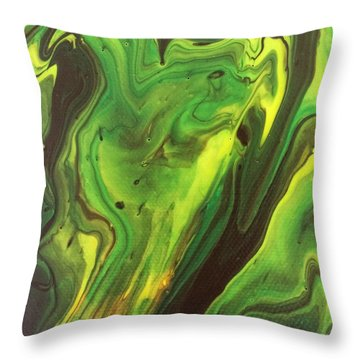Cowboys And Aliens Throw Pillow