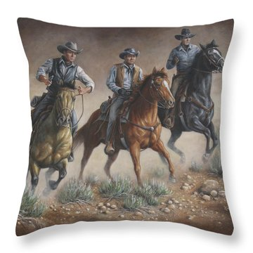 Cowboys Throw Pillow
