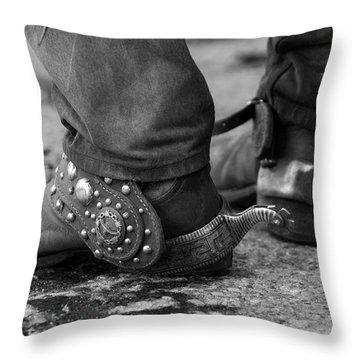 Cowboy's Spurs Throw Pillow by Carol Walker