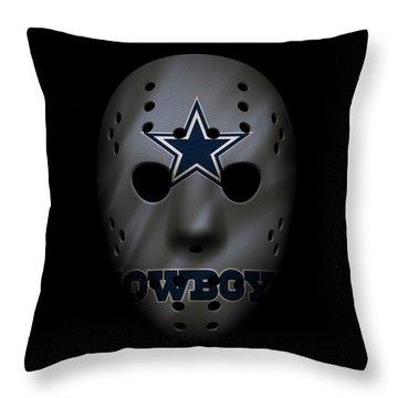 Cowboys War Mask 2 Throw Pillow