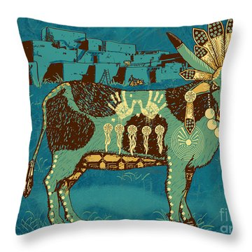 Cowchina Throw Pillow