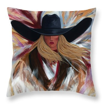 Cowgirl Colors Throw Pillow