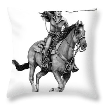 Cowgirl  Throw Pillow by Murphy Elliott