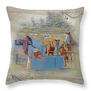 Cowgirl Spa 5p Of 6 Throw Pillow