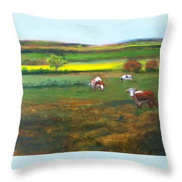Cowgirls Throw Pillow