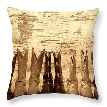 Cowgirls Night Out Throw Pillow
