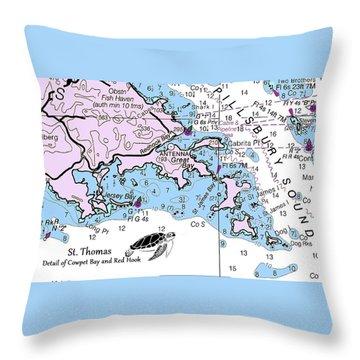 Cowpet Bay Throw Pillow