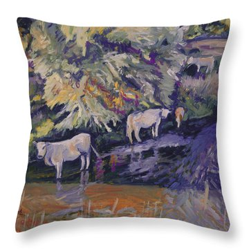 Cows In The Geul Throw Pillow