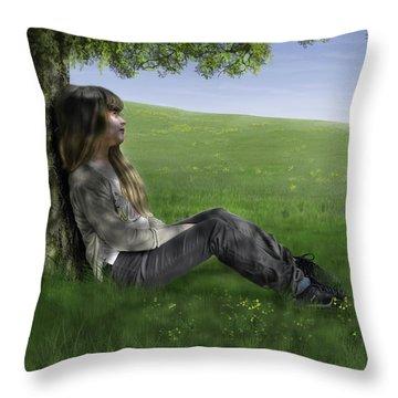 Cowslip Maiden Throw Pillow